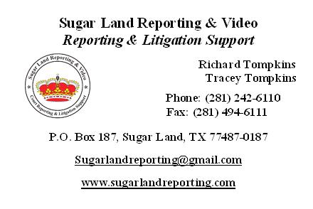 Sugar Land Reporting Ad