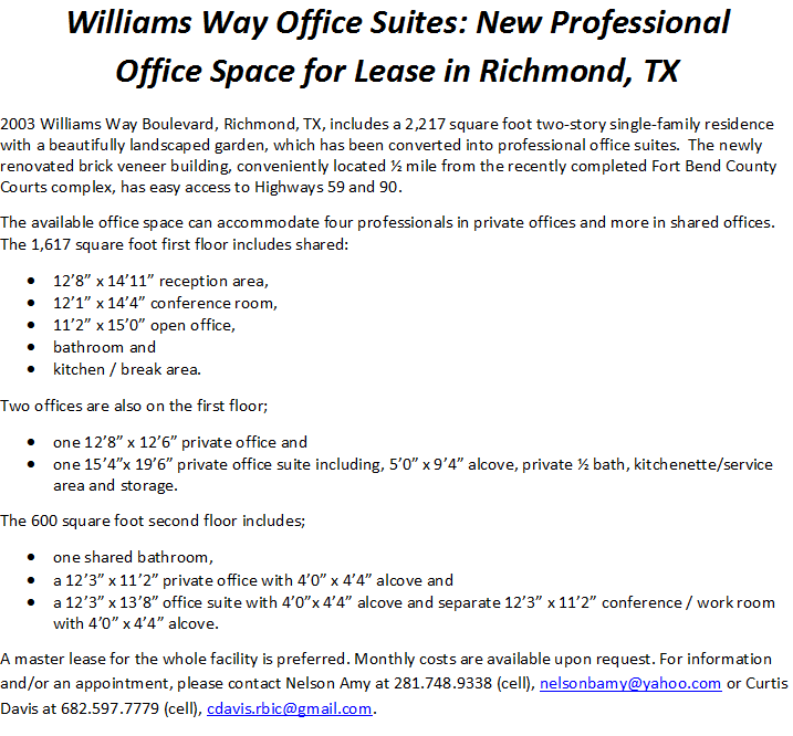 Williams Way Office Suites